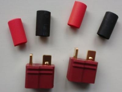 T - Buchse 50 Amp., 2-polig,  mit Schrumpfschlauch (2 Stück)