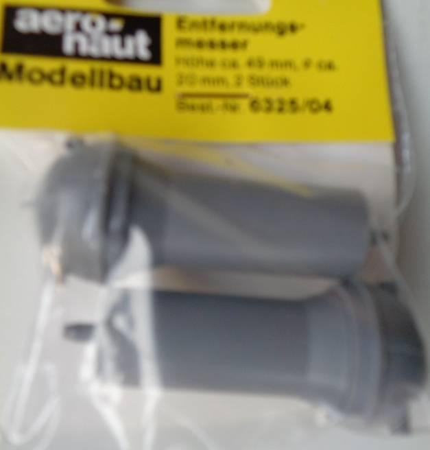 Entfernungsmesser (Plastik) Ø 20 mm, 49 mm hoch, 2 Stück