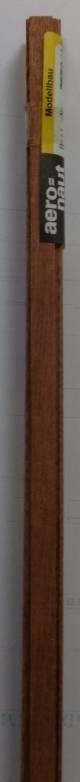 MAHAGONI-Vierkantleistern 1,5 x 8 mm, 1 m lang, 10 Stück