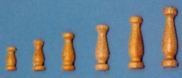 Geländerstützen (Holz) hell, 8 mm hoch, 10 Stück