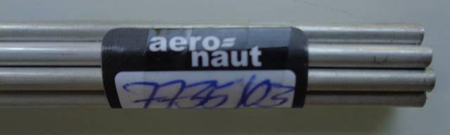 Alu-Rohr, halbhart nahtlos, außen 3 mm, innen 2,4 mm, 1m lg.