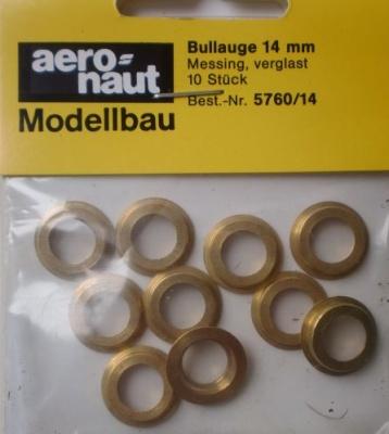 Bullauge Ms Ø 14mm, innen 10 mm, 10 Stück