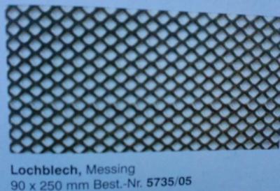 Lochblech, messing,  90 x 250 mm