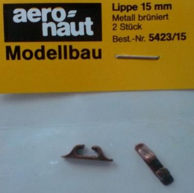 Lippe Metall,  ca. 15 mm lang, 2 Stück