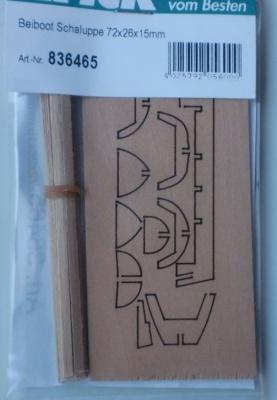 Beiboot Schaluppe 72x26x15mm (klein)