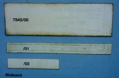 BLEIBAND 100x30x2,  65g, zum Austrimmen, 10 Stück
