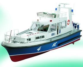 HE 4 Polizeiboot Baukasten  (Länge 76 cm)