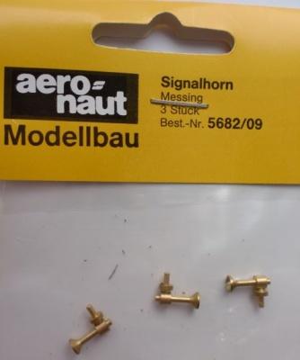 Signalhorn messing, 9 mm, 3 Stück