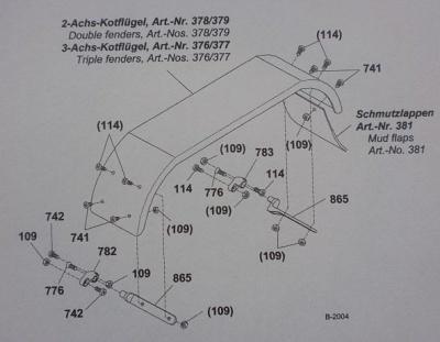 Adapter für 2- u. 3-Achskotflügel (376 - 379)