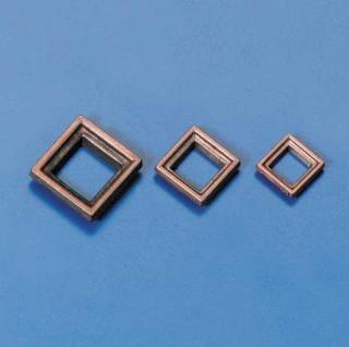Stückpfortenrahmen Metall 8x8mm(10)